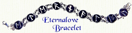 Eternalove Bracelet with Moon Rune Lettering